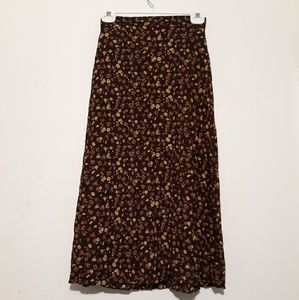 Earthy tone floral Skirt Size M by Studio